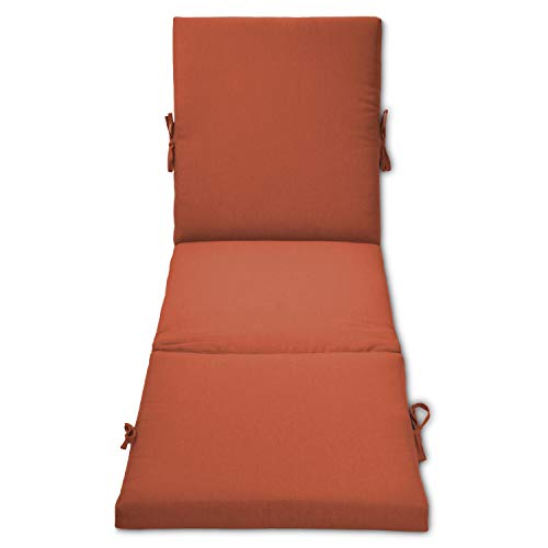 Overstock Outdoor Chaise Cushion Orange