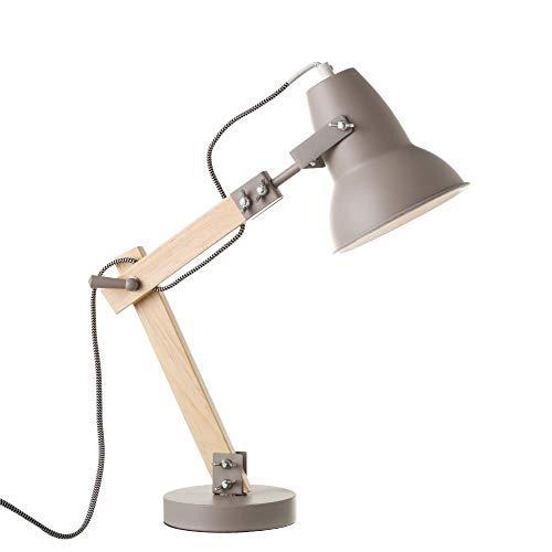 Lámpara flexo de madera gris de diseño moderna para salón Factory -...