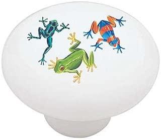 Jungle Frogs Ceramic Drawer Knob