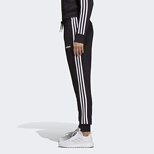 adidas Essentials 3S Pants, Donna, Black/White, XL/52-54