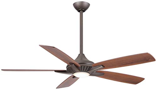 Minka-Aire F1000-ORB Dyno 52 Inch Indoor Ceiling Fan with Integrated LED 16W Dimmable Light in Oil Rubbed Bronze Finish