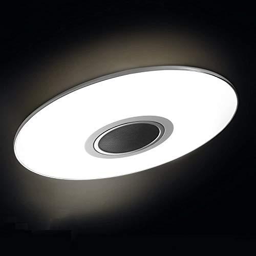 AEG LED Deckenleuchte Bluetooth Musik Lautsprecher, 1x 24W LED integriert (SMD-Chip), 1x 1700 Lumen, 2800-4500K, Kunststoff/Aluminium, weiß/chrom