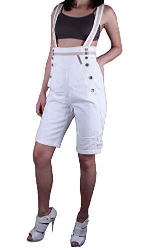 Diesel 5.N.Y.SS Tuta Damen Bermuda Shorts (Rohweiß, W26)