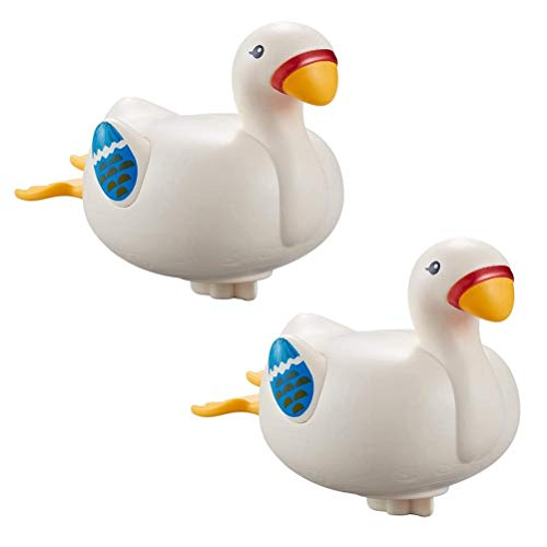BASOYO Swimming Scuba Buddy Wind Up Bath Toy, Baby Duck Wind Up Toy Sing and Swim Bath Toy, Color Aleatorio 2 Piezas
