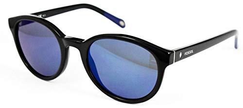 Fossil Sonnenbrille FOS 2022/S Rund Sonnenbrille 51, Schwarz