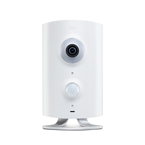 Piper nv Smart Home Security System with Night Vision, 180-degree Video Camera, White