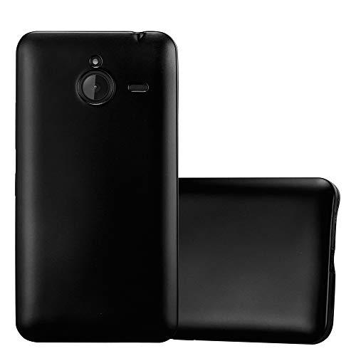 Cadorabo Custodia per Nokia Lumia 640 XL in NERO METALLICO - Morbida Cover Protettiva Sottile di Silicone TPU con Bordo Protezione - Ultra Slim Case Antiurto Gel Back Bumper Guscio