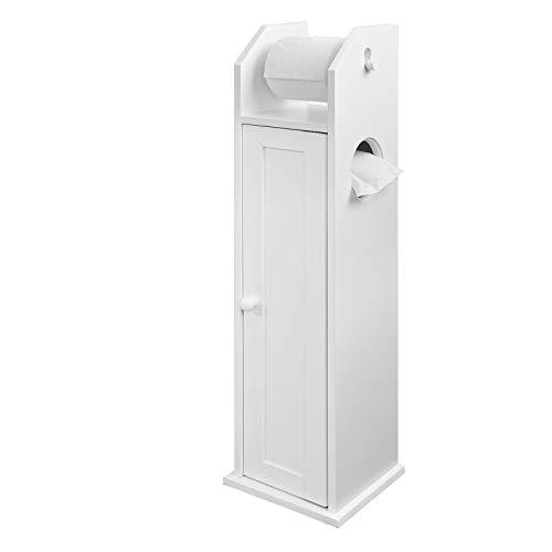SoBuy FRG135-W Freistehend Toilettenrollenhalter Badregal Standschrank Seitenschrank weiß BHT ca: 20x78x18cm