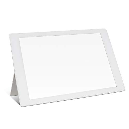 Light Therapy Lamp, 10000 Lux UV-Free Bright White, Adjustable Brightness, Timer Setting, Foldable Bracket, for Home/Office Use