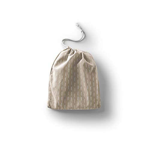 Bonamaison Impreso Algodón Bolsas con Cordón, Bolsa con Cordel para el Hogar y el Almacenamiento de Verduras, Bolso de Compras, Plegable, Ecologica, Reutilizables, Tamaño: 30x40 Cm