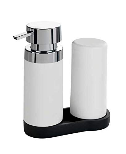 WENKO DIE BESSERE IDEE Distributeur Liquide Vaisselle et Distributeur Savon Liquide, Easy-Squeeze Blanc