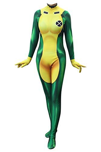 RedJade Anna Marie X-Männer Rogue Jumpsuit Bodysuit Cosplay Kostüm Damen XL