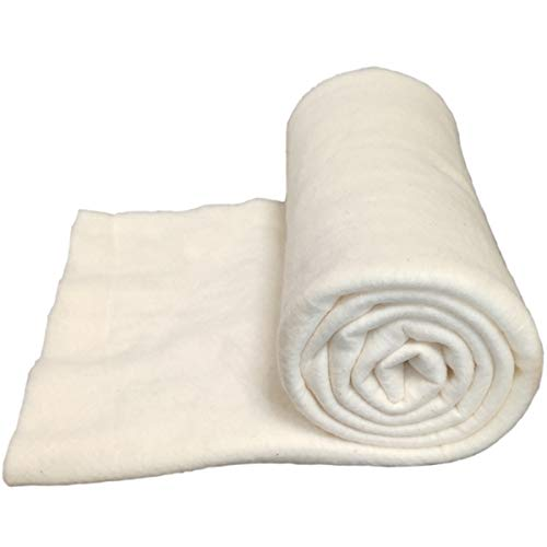 Natural Cotton Batting for Quilts: 47-Inch x 59-Inch Purely Natural All Season Quilt Batting for Quilts, Craft and Wearable Arts