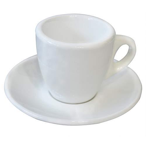 Juego de Tazas Café Barista, Ceramica Blanca, 12uds. Vajilla/Menaje Elegante y Clásica, Boston 1689 - Hogar y Más
