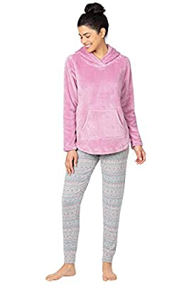 PajamaGram Pajama Leggings for Women - Womens Pajama Sets, Raspberry, M 8-10