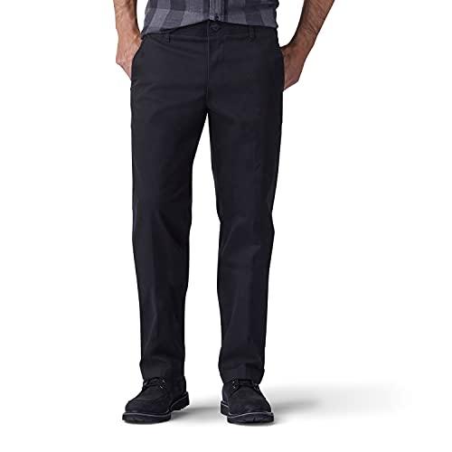 Lee Men's Performance Series Extreme Comfort Straight Fit Pant, Black, 38W x 32L