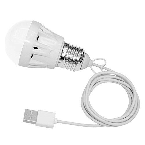 ultron 171669 save-E LED 5V USB 5 Watt, LED zum Anschluss an einen 5V USB-Port, Outdoor, Camping,Weiß