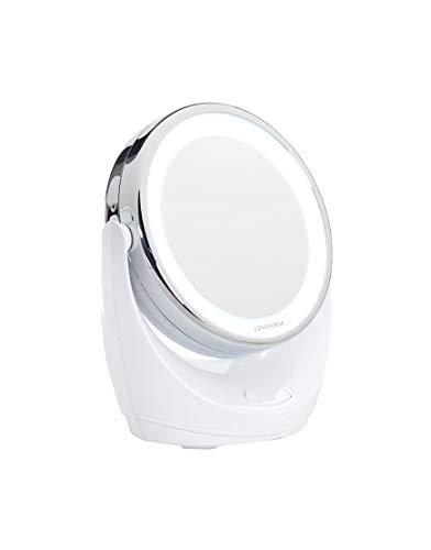Lanaform Led Mirror - Miroir pour maquillage LED grossissant à double face x1/x10
