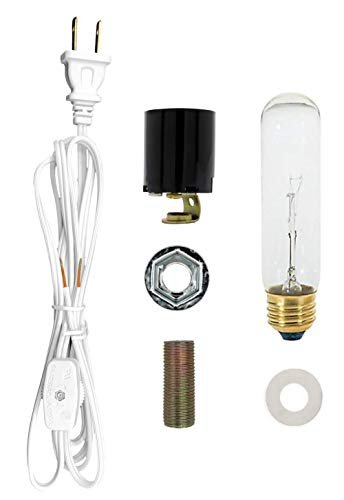 Creative Hobbies ML1-B6 Large Christmas Tree Wiring Kit, 40 watt Bulb, Standard (Edison) Base, Great for Lighting Large Size Objects