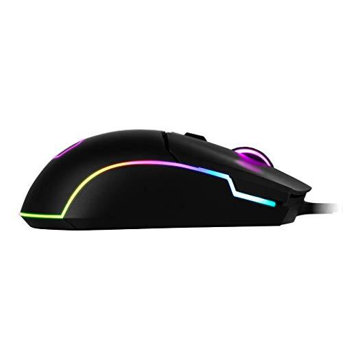 Cooler Master CM110 RGB Mouse Gaming con Cavo, Sensore Ottico 6000 DPI, Design Ambidestro per Claw/Palm Grip, 6 Pulsanti, Nero Opaco