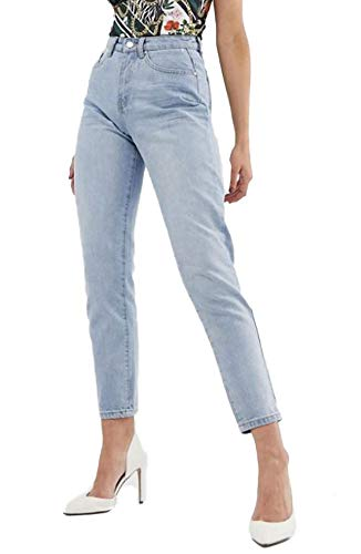 Missguided Riot Highrise Damen Jeans hellblau Gr.32 UK4