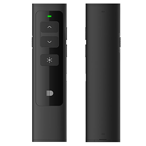 Doosl Wireless Presenter, 2.4GHz Rechargeable Powerpoint Remote Control PPT Clicker Presentation Pointer Pen - Black
