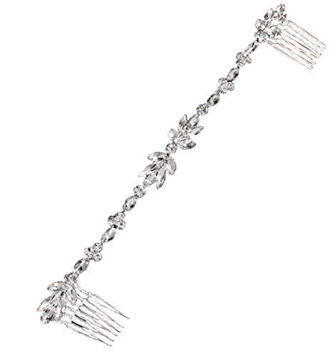 Damen Haarschmuck Haarband Haarreif Haarbänder Haardeko Perlen Blätter Blatt Hochzeit Braut gold silber Edelschmuck Schmuck Accessoires (Haarkamm (Style 2))