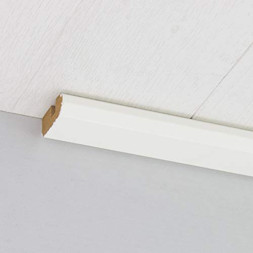 Paneel-Abschlussleiste Abdeckleiste mit Schattenfuge aus MDF in Weiß 2600 x 35 x 17 mm