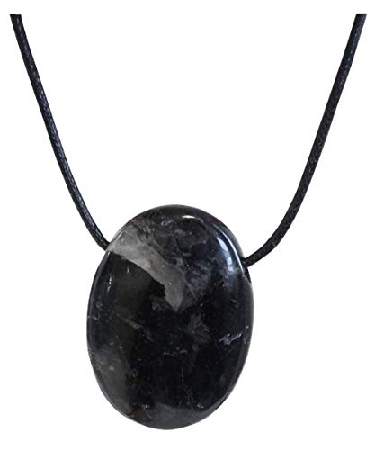 Colgante piedra oval perforada–Turmalina Negra