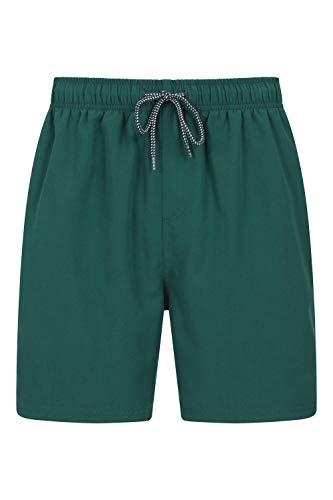 Mountain Warehouse Bañador Corto Aruba para Hombre - Bañador de Secado rápido, Pantalones Ligeros, bañador con cordón Ajustable para la Playa - para Vacaciones y Piscina Verde 4XL