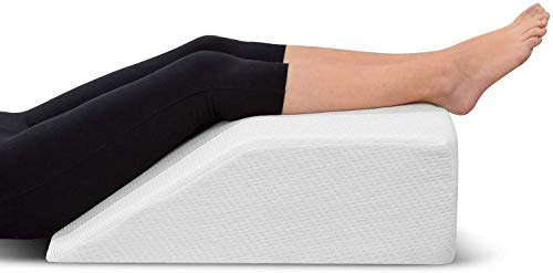 Lowest Prices! Leg Elevation Pillow - with Memory Foam Top, High-Density Leg Rest Elevating Foam Wed...
