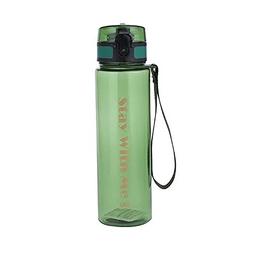 NYWENY Taza espacial de gran capacidad portátil botella de agua deportes al aire libre plástico fruta jugo taza adulto pareja gimnasio Copa senderismo viaje seguro PP+PC 620ml