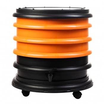 Lombricomposteur WormBox 3 Plateaux Orange - 48 litres - Recyclez Vos déchets organiques en Engrais pour Vos Plantes 🌻