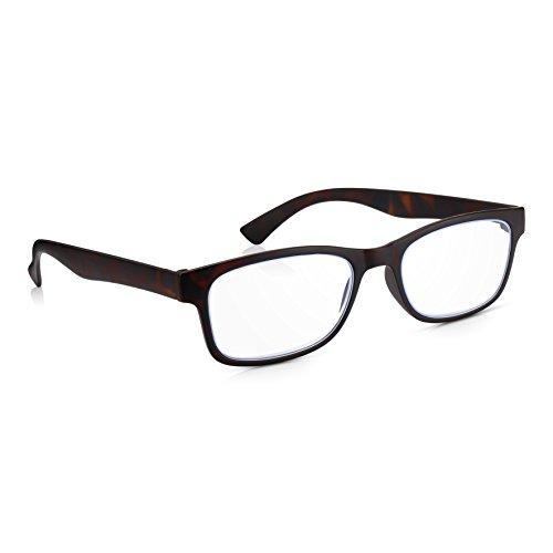 Read Optics Gafas Protectoras para Ordenador/Pantalla Antireflejos con Filtro Luz Azul, Bloqueo UV con Lentes Transparentes Graduadas desde +0.0 Antifatiga hasta +3.5 de Lectura (Hombre/Mujer)