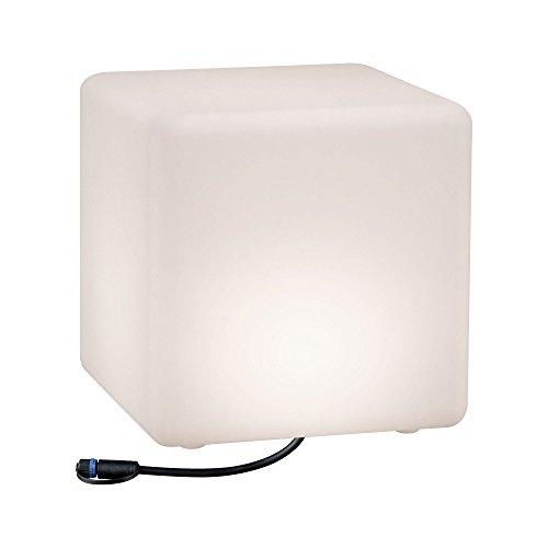 Paulmann 941.81 Outdoor Plug & Shine Lichtobjekt Cube IP67 3000K 575lm 24V Würfelleuchte Dekowürfel Aussenleuchte Terassenleuchte 94181