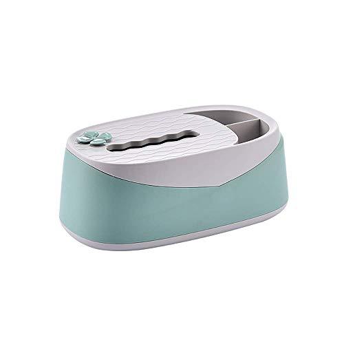 AERVEAL Sostenedor Del Papel de la Caja Del Tejido Verde Caja de Pañuelos de Soporte Del Mando a Distancia de Bisutería Y Maquillaje Organizador de Oficina en Casa