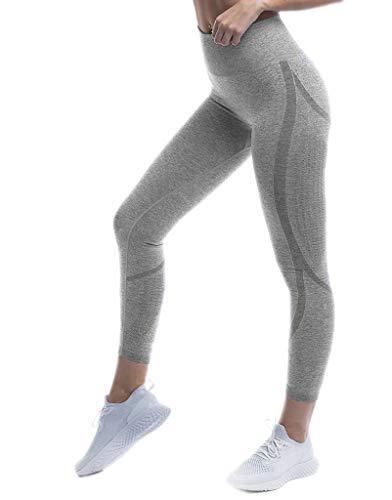 Pau1Hami1ton Talle Alto Camuflaje Sin Costura Leggins para Mujer Gimnasio Capri Mallas...