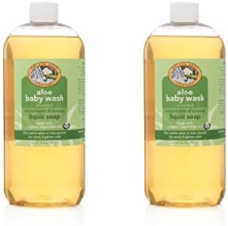 Oregon Soap Company - Unscented Baby Mild Liquid Castile Soap, Certified Organic and Natural Ingredients, Concentrated Multipurpose Castile Soap (32 oz (2-pack), Aloe Baby Wash)