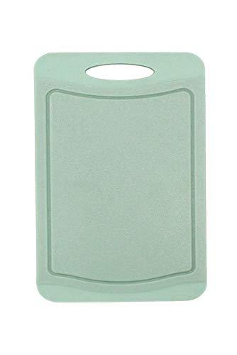 Steuber Schneidebrett mit Saftrinne, 37 x 25 cm, beidseitig verwendbar, messerschonend, Anti-Rutsch-Oberfläche, grün