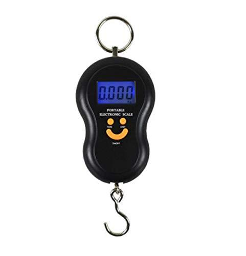 Escala electrónica portátil Pantalla LCD de Alta precisión de 45 kg Pantalla de Cuatro dígitos Mini Escala-Negro