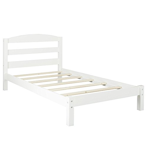 Dorel Living Braylon Twin Bed, White