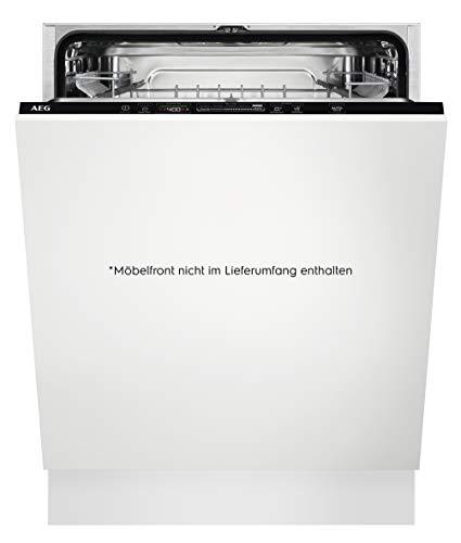 AEG FSB53627P Vollintegrierter-Geschirrspüler / 60cm / AirDry - perfekte Trocknungsergebnisse / A+++ / energiesparend / Besteckkorb / QuickSelect Display / Beladungserkennung / Startzeitvorwahl