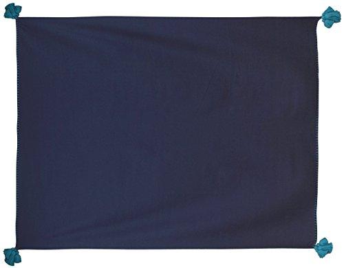 Thomaspaul Pom Solid Überwurf, Marineblau/Aqua