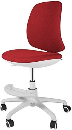 Silla de Oficina Aruzn, de Espalda Baja, Altura Ajustable, Silla de Tarea giratoria con Respaldo Acolchado y Asiento Sillón (Color : Red)