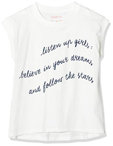 Sanetta Mädchen T-Shirt-244411 Schlafanzugoberteil, Beige (Broken White 1427), 140