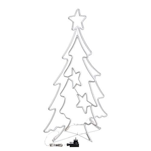 LOTTI IMPORTEX SRL Figura Luminosa, árbol de Navidad 2D/3D con Estrellas SMD...
