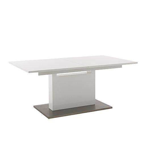 Alpisedia Table Grande Blanche 180-240, Bois, 180 x 100 x 76 cm