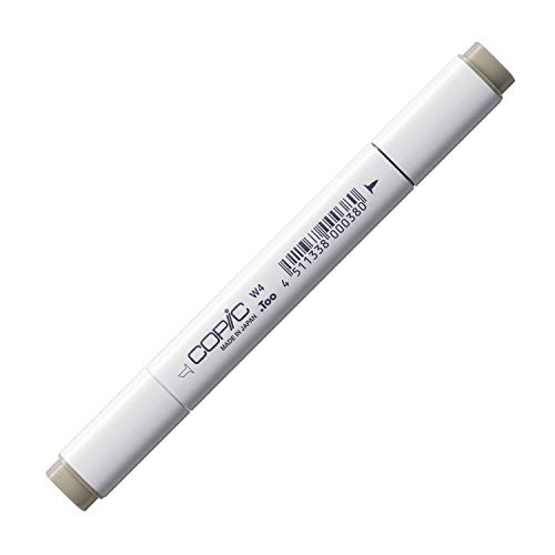 COPIC Classic Marker Typ W - 4, warm gray No. 4, professioneller Layoutmarker, alkoholbasiert, mit einer breiten und einer feinen Spitze