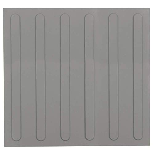 PrimeMatik - Baldosa podotáctil pavimento táctil de Ciegos invidentes de 40x40cm con Franjas Avance Gris 10-Pack
