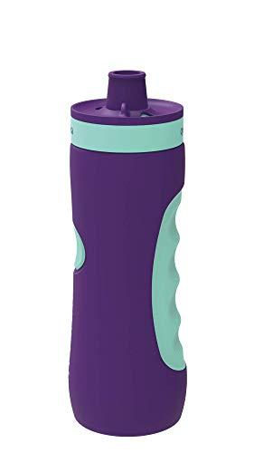 Quokka Sweat - Aqua Violet 680 ML   Botella de Agua Deportiva Reutilizable de LDPE sin BPA   Bidón con Cierre de Seguridad para Gimnasio, Bicicleta - Ligera y Flexible